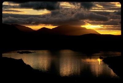 Twelve Bens mountain sunrise, Connemara, Ireland